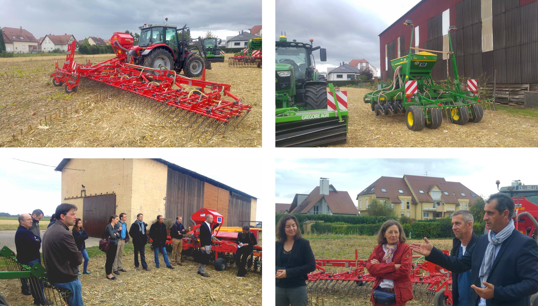 Actuellement 15 agriculteurs sont adhérents de la CUMA de la Plaine.
