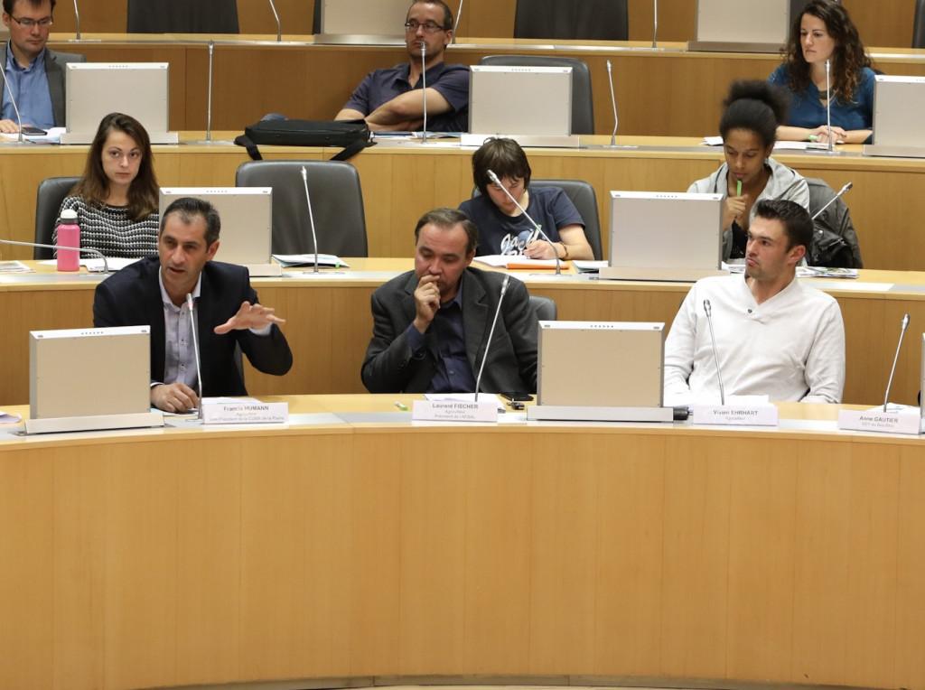 De gauche à droite : Francis Humann, Laurent Fischer et Vivien Ehrhart
