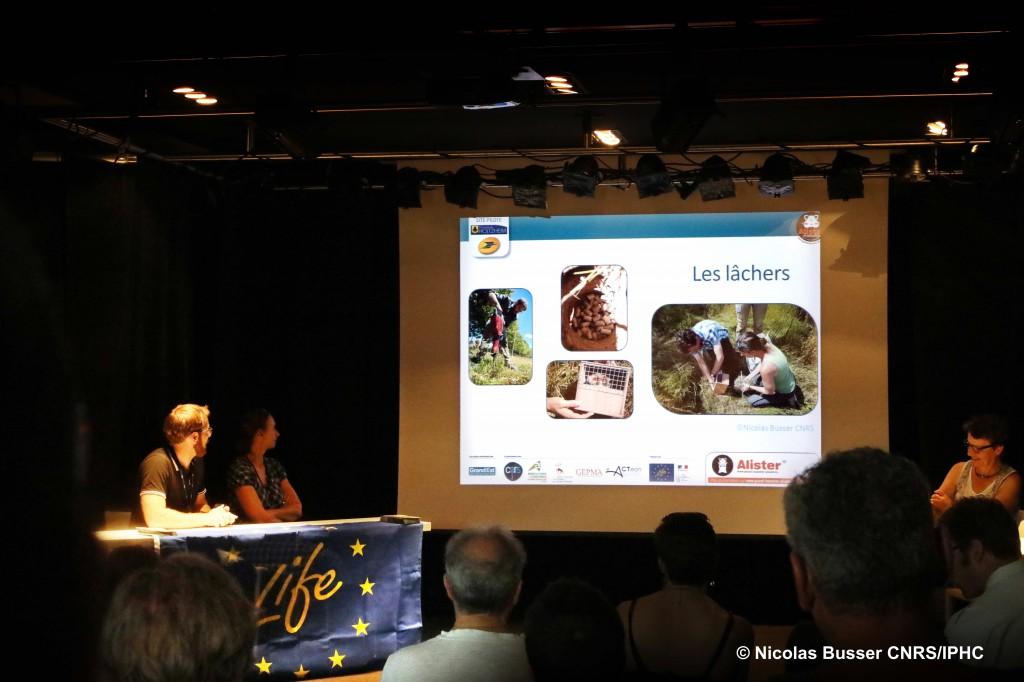 Présentation de l'expérimentation lors d'une réunion publique à Holtzheim